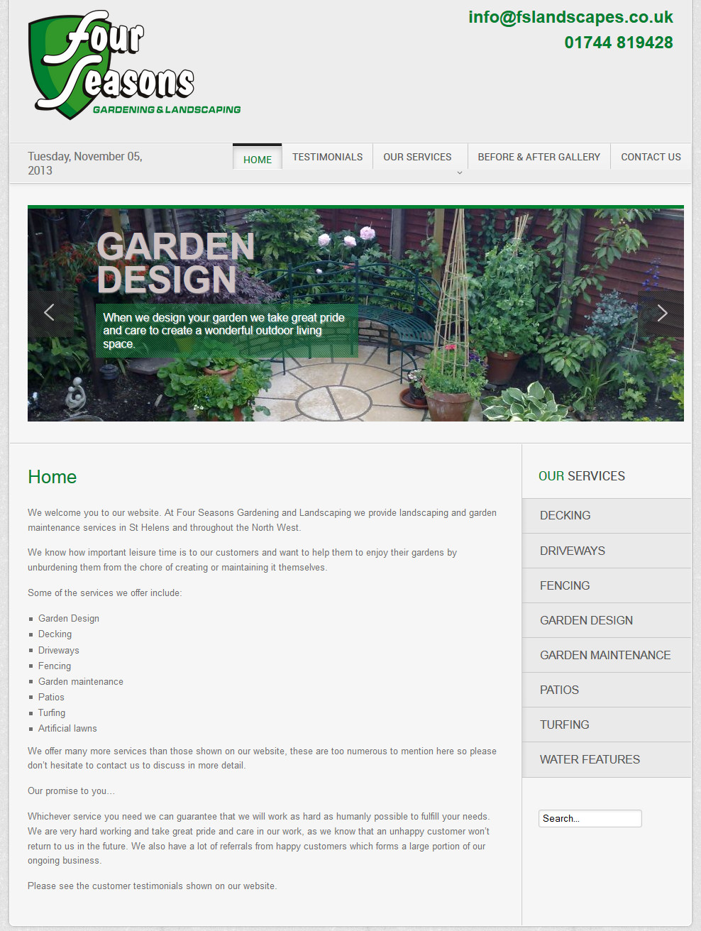 Four Seasons Landscaping and Gardening Design